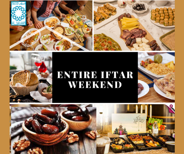 Weekend Iftar Program $1500